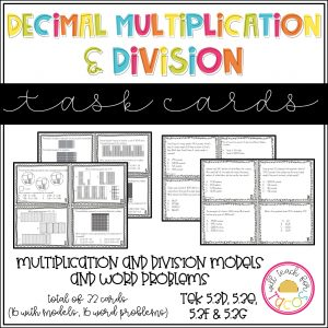 multiplication and division taskcards