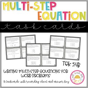 multistep equation tascards