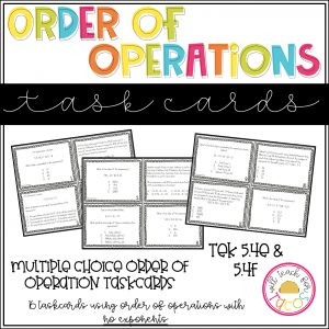 order of operation taskcards